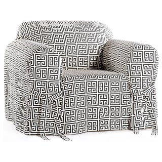 Classic Slipcovers Geo Print 1-piece Chair Slipcover