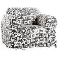 Classic Slipcovers Geo Print 1-piece Chair Slipcover