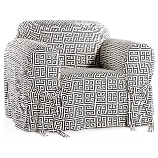 Classic Slipcovers Geo Print 1 Piece Chair Slipcover