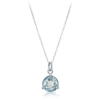 La Preciosa Sterling Silver Round Gemstone Necklace