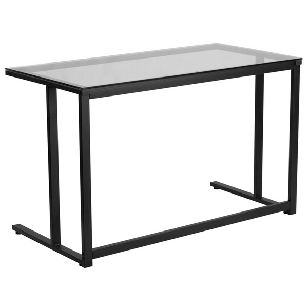 Flash Furniture Gl Desk With Black Pedestal Frame