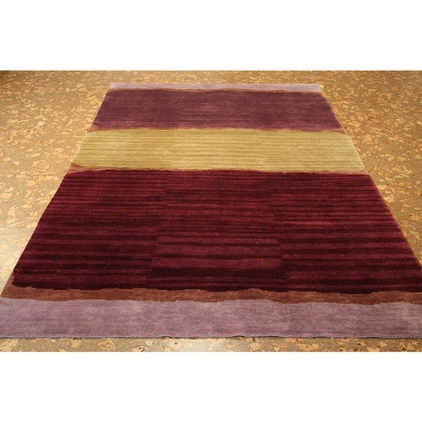 Shop ABC Accents Tibet Multi-colored Wool Rug (6' X 9
