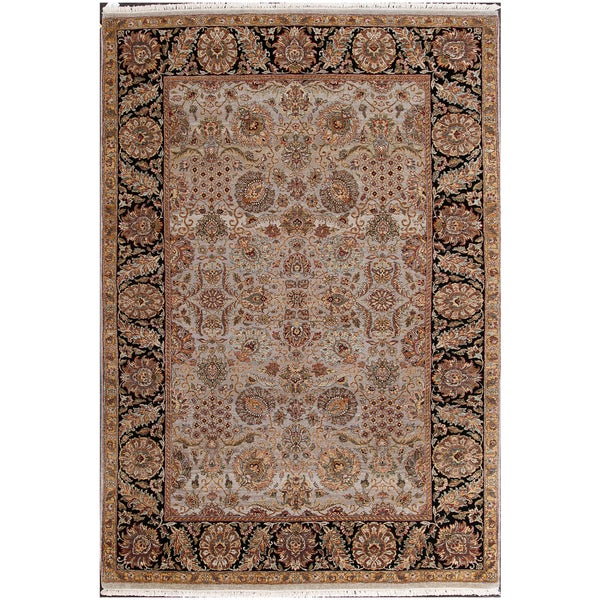 Shop ABC Accents Persian Oushak Grey Hand-knotted Wool Rug