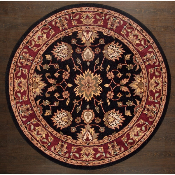 Shop ABC Accents Persian-style Agra Handmade Black Red