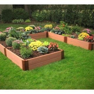 Frame It All Raised Garden L-Shaped 1-inch (12' x 12') 2 Level