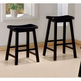 Coaster Geneva Black Cherry 24-inch Counter Height Bar Stool (Set of 2)