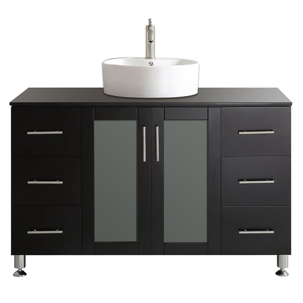 bathroom vanity without sink shop vinnova tuscany 48 inch espresso single vanity with 17063