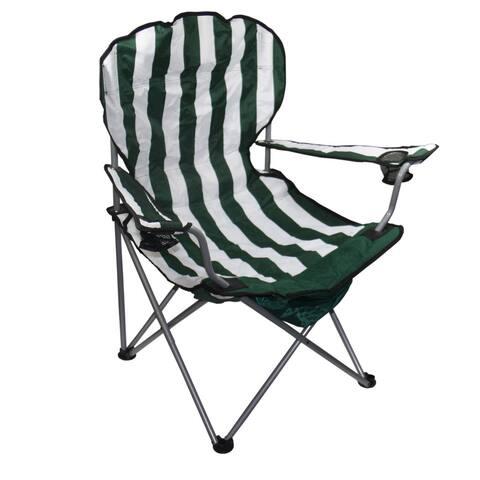 """37.5""""H Green Stripe Folding Chair"""