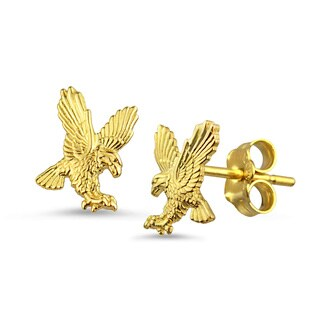 10k Yellow Gold Eagle Stud Earrings