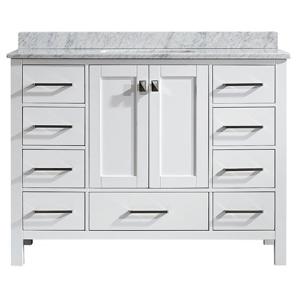 vinnova gela 48 inch white single vanity with carrera