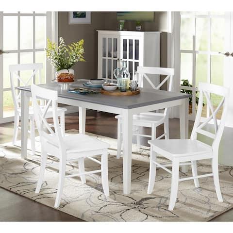 Buy white kitchen dining room sets online at overstock our simple living 5 piece helena dining set watchthetrailerfo