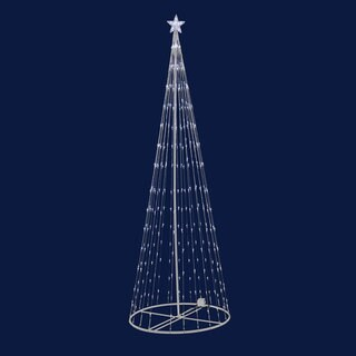 9' Indoor/ Outdoor LED Warm White Light Show Tree