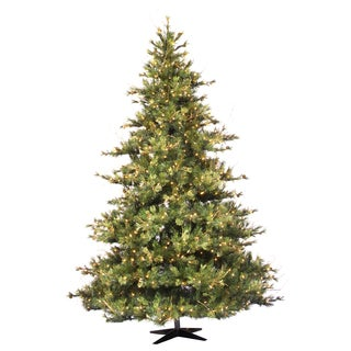 10 Foot x 76 Inches Mixed Country Pine tree with 1450 Clear Dura-Lit Lights