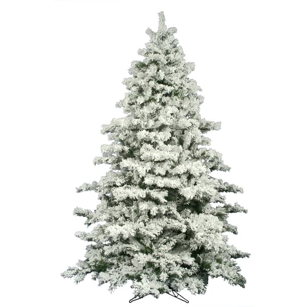 10 Flocked Alaskan Artificial Christmas Tree Unlit