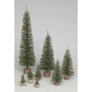 "12"" Carmel Pine Tree with Wood Base"