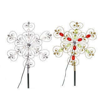 Gold Beaded 12-inch LED Tree Topper