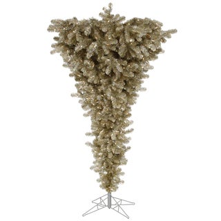 "9' x 78"" Champagne Upside Down Tree with 1000 Warm White Italian LED Lights"