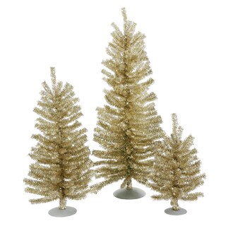 "12""/18""/24"" Champagne Mini Tree Set"