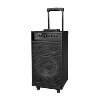 Pyle PWMA1050BT 800-watt Wireless Rechargeable Portable Bluetooth PA Speaker System with Wireless Microphone