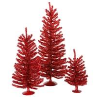 """12""""/18""""/24"""" Red Mini Tree Set"""