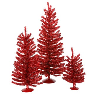 "12""/18""/24"" Red Mini Tree Set"