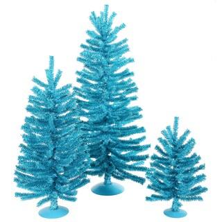 "12""/18""/24"" Sky Blue Mini Tree Set"