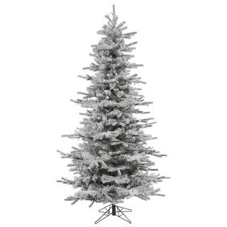 """8.5' x 58"""" Flocked Slim Sierra Tree with 1564 Tips"""