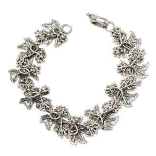 Handmade Sterling Silver 'Morgana' Bracelet (Peru)