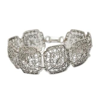 Handmade Sterling Silver 'Sumak' Bracelet (Peru)