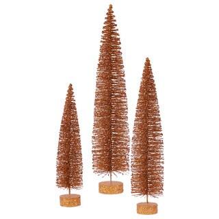 "24""-30""-36"" Copper Glitter Oval Tree Set"