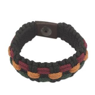 Handcrafted Men's Recycled 'Genesis' Bracelet (Ghana)
