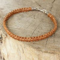 Handmade Men's Leather 'Brown Magnificence' Bracelet (Thailand)