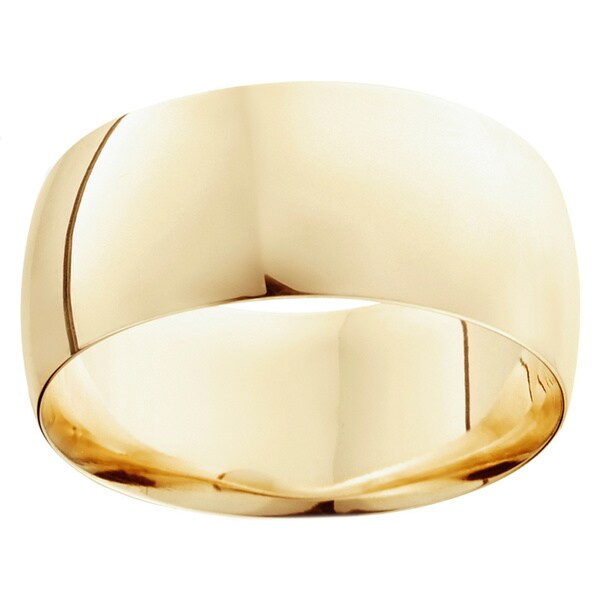 14k Gold 10mm Plain Wedding Band. Opens flyout.