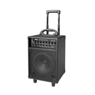 Pyle PWMA230BT 400-watt Wireless Rechargeable Portable Bluetooth PA Speaker System with Wireless Microphone|https://ak1.ostkcdn.com/images/products/10602237/P17674680.jpg?impolicy=medium