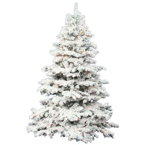 Flocked Christmas Greenery Find Great Christmas Deals Shopping At Overstock