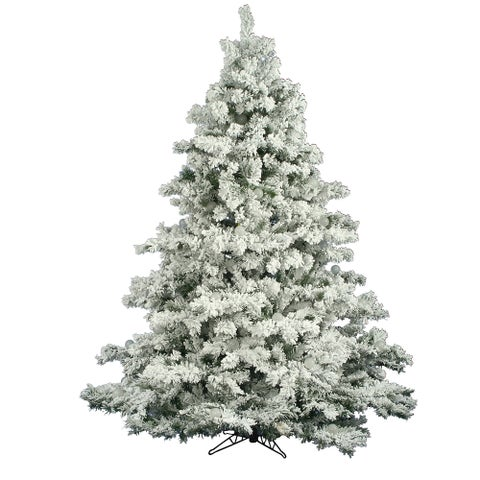 "7.5' x 68"" Flocked Alaskan Tree with 1496 PVC Tips"