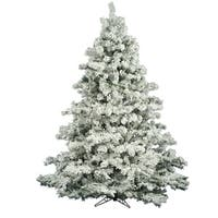 "7.5' x 68"" Flocked Alaskan Tree with 1496 PVC Tips"
