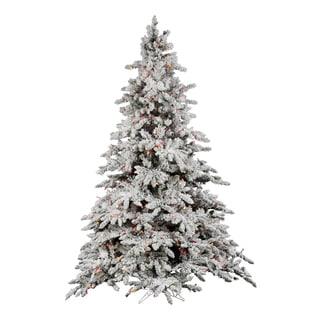 "7.5' x 65"" Flocked Utica Fir Tree with Dura Lit Lights"