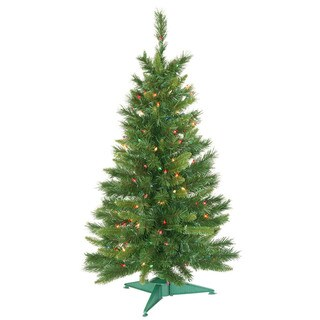 3.5' x 21 Prelit Imperial Pine Tree with 150 Multi-Colored Lights