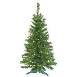 3.5' Pre-Lit Imperial Pine Artificial Christmas Tree - Clear Lights