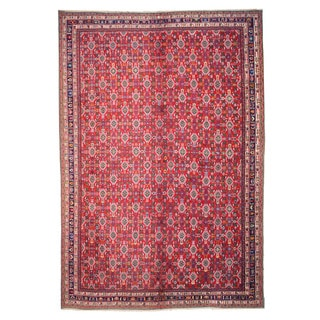 EORC Hand Knotted Wool Red Kashkuli Rug (12'11 x 19'2)