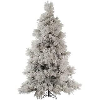 "7.5' x 60"" Flocked Pocono Pine Tree with 957 Tips"