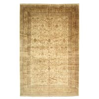 Hand-knotted Wool Ivory Traditional Oriental Sarouk Rug (11'4 x 17'8) - 11'4 x 17'8