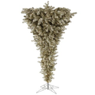"""7.5' x 60"""" Champagne Upside Down Tree with 1293 PVC Tips"""