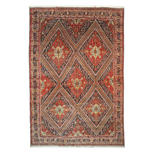 Hand Tufted Traditional Oriental Red Wool Rug With Non: Shop Hand-knotted Wool Red Traditional Oriental Antique