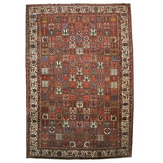 Hand-knotted Wool Traditional Oriental Panel Bakhtiar Rug (15' 9 x 23')