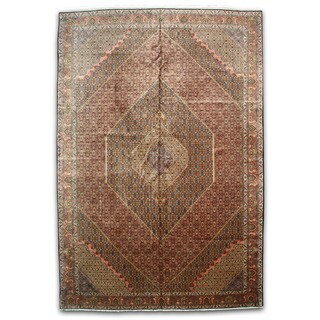 Hand-knotted Wool Rust Traditional Oriental Bidjar Rug (13'4 x 19'8)