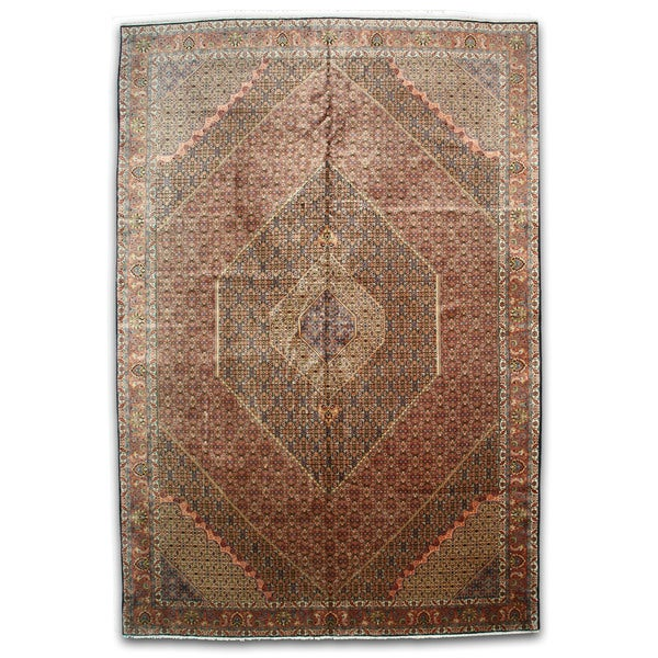 Fine Round Persian Bidjar Area Rug Hand Knotted Wool And: Shop Hand-knotted Wool Rust Traditional Oriental Bidjar