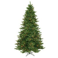 """7.5' x 55"""" Camdon Fir Tree with 800 Multi-Colored LED Lights"""