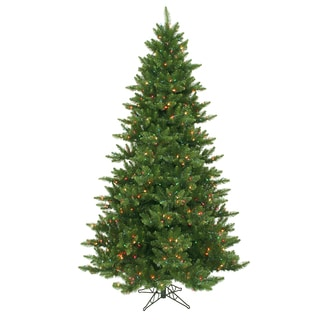 "7.5' x 55"" Camdon Fir Tree with 800 Multi-Colored Dura-Lit Lights"